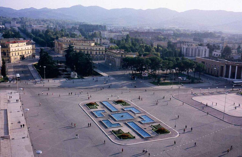 1988-Tirana,-skanderbeg-torv